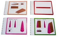Упражнения с розовой башней, коричневой лестницей и красными штангами