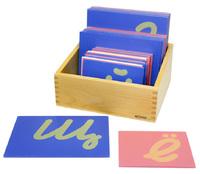 Шероховатые прописные буквы (наклонные) строчные