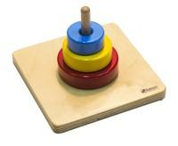 Пирамидка с тремя кольцами разного диаметра и цвета