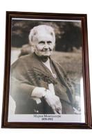Портрет Марии Монтессори в рамке