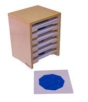 Шкафчик с карточками для геометрического комода