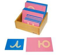 Шероховатые прописные буквы (прямые) строчные
