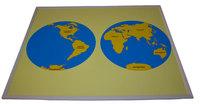 Контурная карта континентов