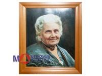 Портрет М. Монтессори в раме (цветной) 47х37.
