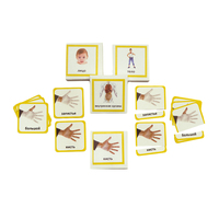Трехчастные карточки «Строение человека»